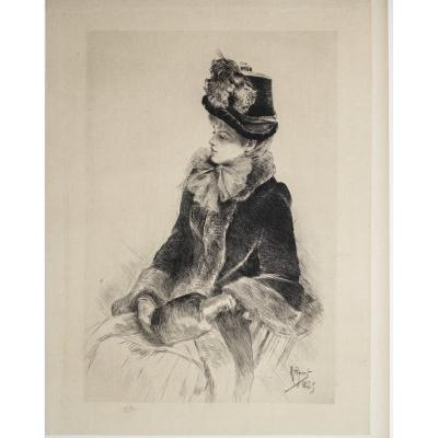 Femme Au Manchon - Rodolphe Piguet