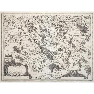 Carte géographique ancienne du Charolais - Orignal antique Map