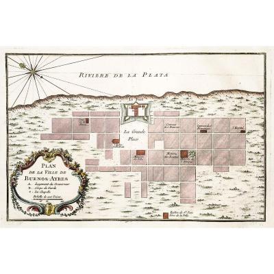 Buenos – Aires - Original antique map