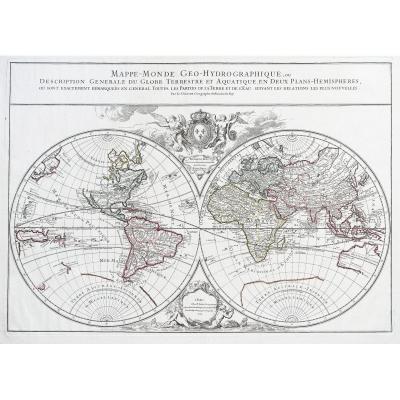 Mappe - Monde - Carte géographique ancienne