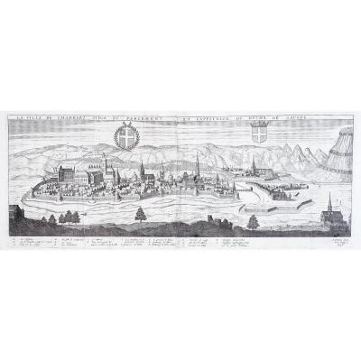 Old Engraving - The City Of Chambéry Seat Of The Parliament And Capital Of The Duchy Of Savoy