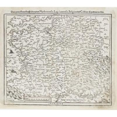 Gaule - France - Antique Geographical Map