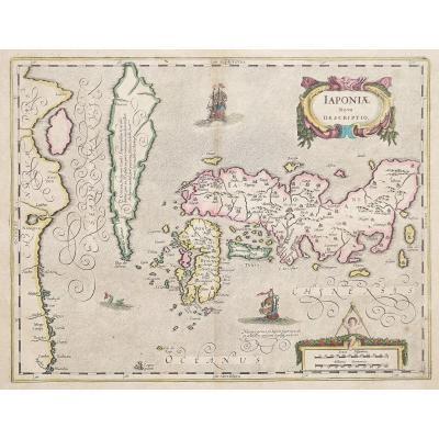 Carte géographique ancienne du Japon –  Corée - Iaponia nova Descriptio