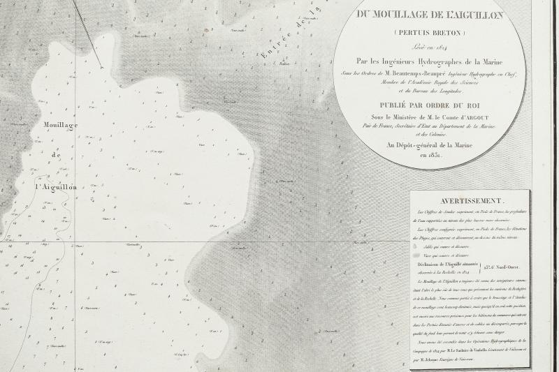Antique Chart Of The Aiguillon - Pertuis Breton - Beautemps Beaupré-photo-3