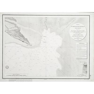 Antique Chart Of The Aiguillon - Pertuis Breton - Beautemps Beaupré