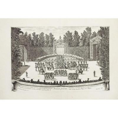 Les Fêtes De Versailles - Gravure Originale - Israël Sylvestre - 1678