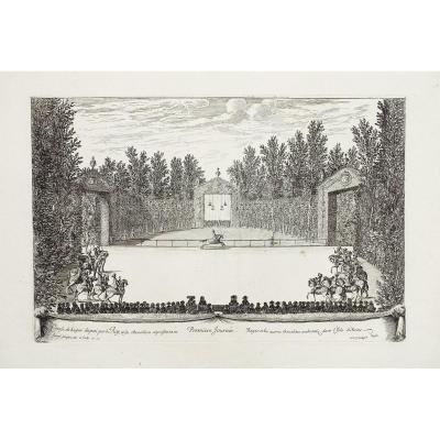 The Festivals Of Versailles - Original Etching - Israël Sylvestre - 1678