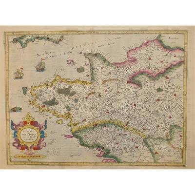 Carte Géographique Ancienne De Bretagne – Mercator Cartographe – Britain Antique Map