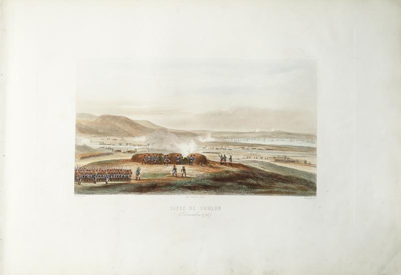 Bataille napoléonienne – Siège de Toulon en 1793 – gravure ancienne-photo-2