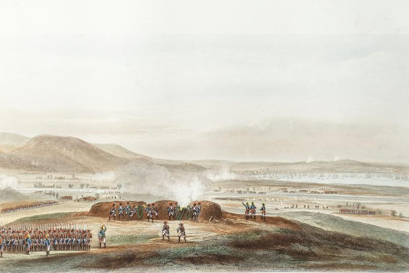 Bataille napoléonienne – Siège de Toulon en 1793 – gravure ancienne-photo-3