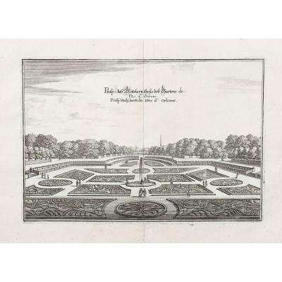 Old Engraving - Royal Palace - Palace Of The Duke Of Orleans