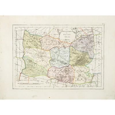 Carte ancienne du département de l'Oise