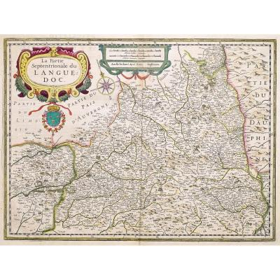 Antique Map - Languedoc Septentrional