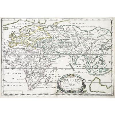 Ancient Geographic Map Of The Old World - Orbis Vetus Orbis Vetus