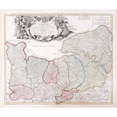 Carte Ancienne De La Normandie