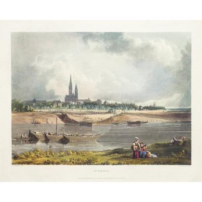 Gravure ancienne de Saint-Denis