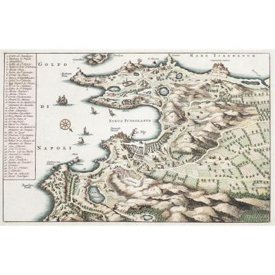 Old  Map Of The Gulf Of Napoli