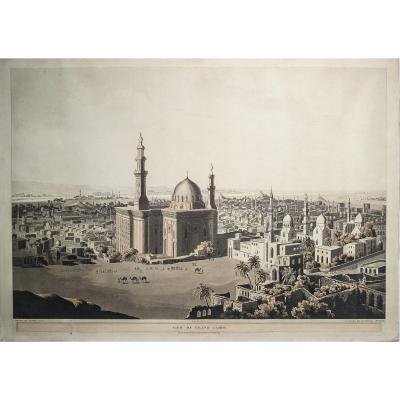 Gravure Originale Du  Caire – View Of Grand Cairo - Salt