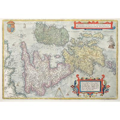 Antique Map Of England -angliae - Antique Map