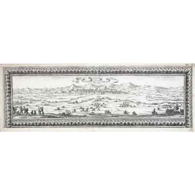 Perpignan  - Profil De La Ville Et Citadelle  En 1642
