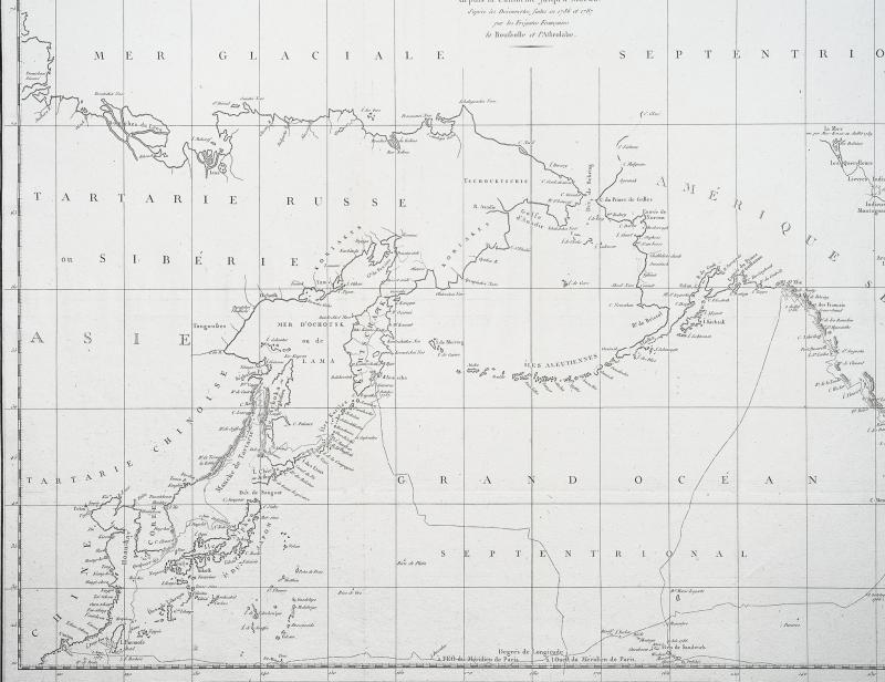 La Pérouse – Carte géographique ancienne des Côtes de l'Amérique & de l'Asie-photo-2