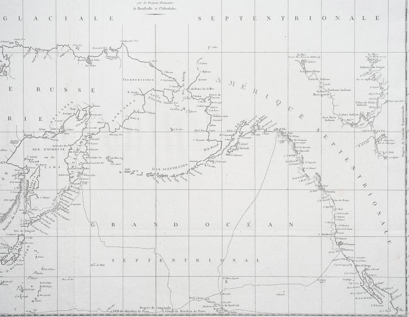 La Pérouse – Carte géographique ancienne des Côtes de l'Amérique & de l'Asie-photo-3