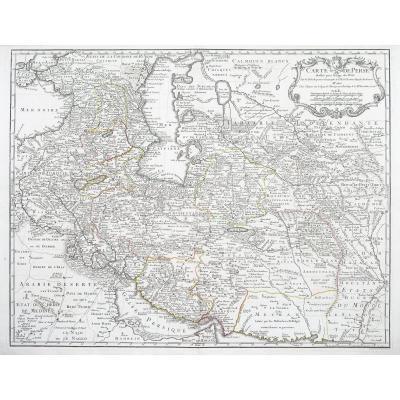 Kazakhstan – Azerbaijan – Uzbekistan – mer Caspienne - Carte ancienne