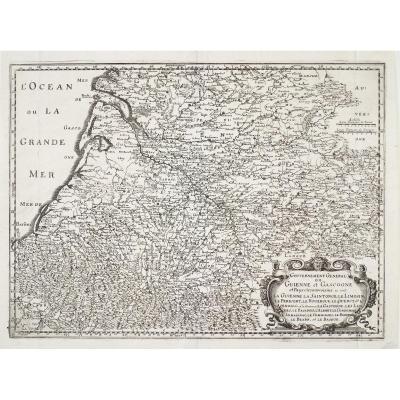 Carte géographique ancienne - Guyenne & Gascogne - Original antique map