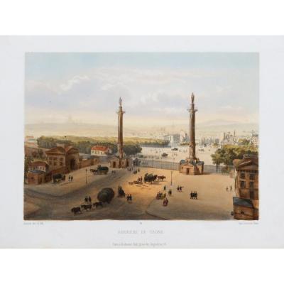 Antique Lithography - Nation - Paris