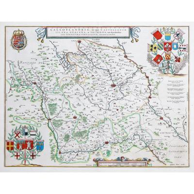 Carte Géographique Ancienne Des Environs De Lille – Nord