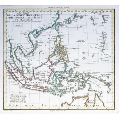 Îles De La Sonde & Philippines carte géographique ancienne