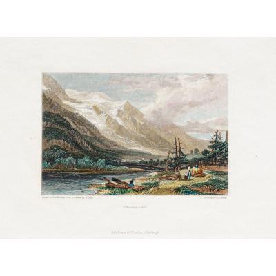 Gravure ancienne de Chamonix - Savoie