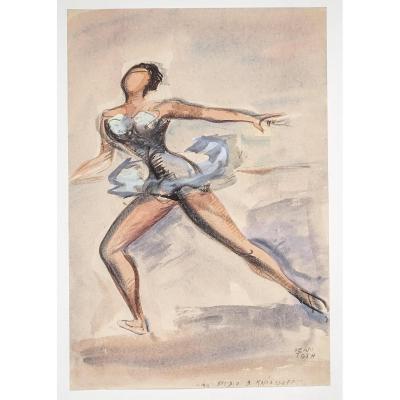 L'opéra De Paris – Danse – Jean Toth – Gouache & Aquarelle – Au Studio Kaniasseff
