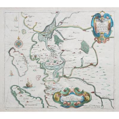 Gouvernement de la Rochelle - Aunis -  carte géographique ancienne