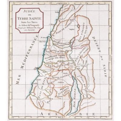 Judée ou Terre Sainte  Carte géographique ancienne