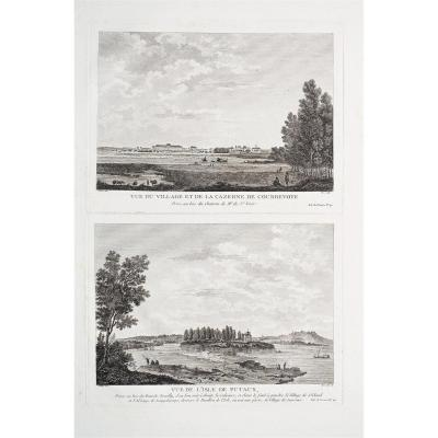 Courbevoie & Puteaux – Original Antique Engraving