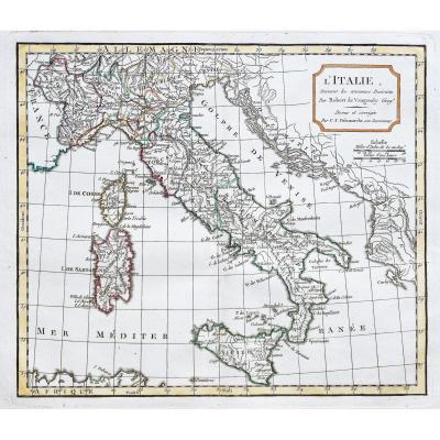 Carte ancienne de l'Italie