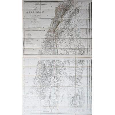 Israël - Palestine - carte géographique ancienne