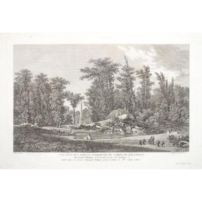 Garden Of Bagatelle – Original Antique Engraving