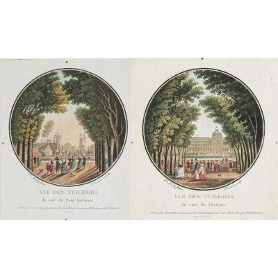Original Antique Engravings The Tuileries - Paris