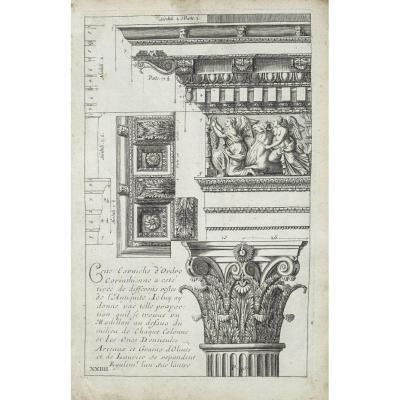 Gravure ancienne - Architecture Antique
