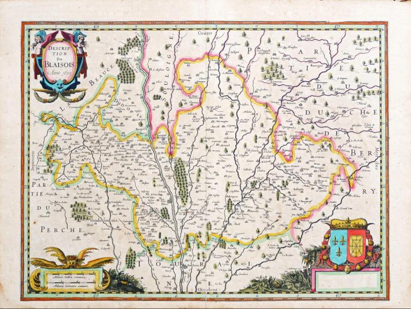 Carte géographique ancienne de la région de Blois-photo-2