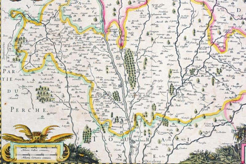 Carte géographique ancienne de la région de Blois-photo-3