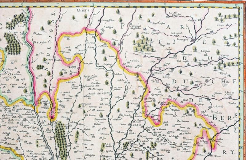 Carte géographique ancienne de la région de Blois-photo-4