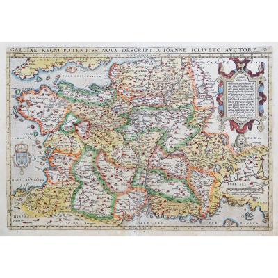 Carte géographique ancienne de la France – Gallia
