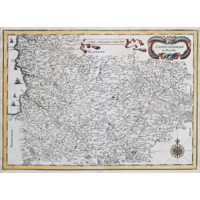 Carte géographique ancienne de la Picardie