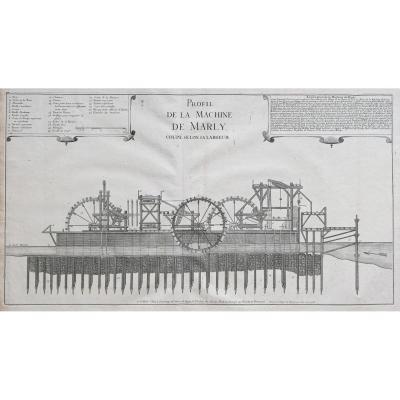 Gravure Ancienne – Machine De Marly