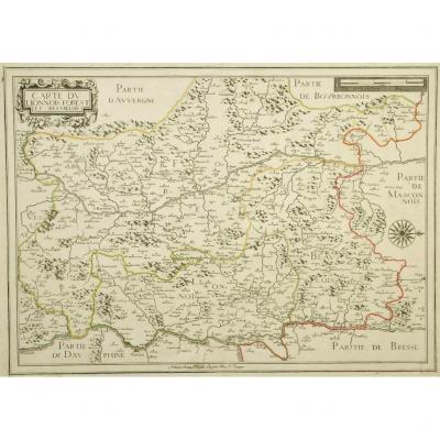 Carte ancienne du Lyonnais & Forest – Boisseau cartographe