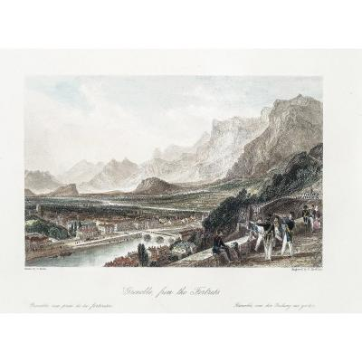 Old Engraving Of Grenoble