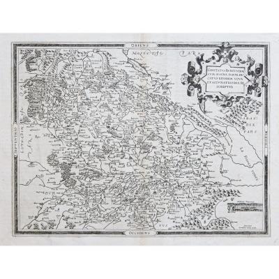 Antique Map Of Bourgondy - De Jode Catographe